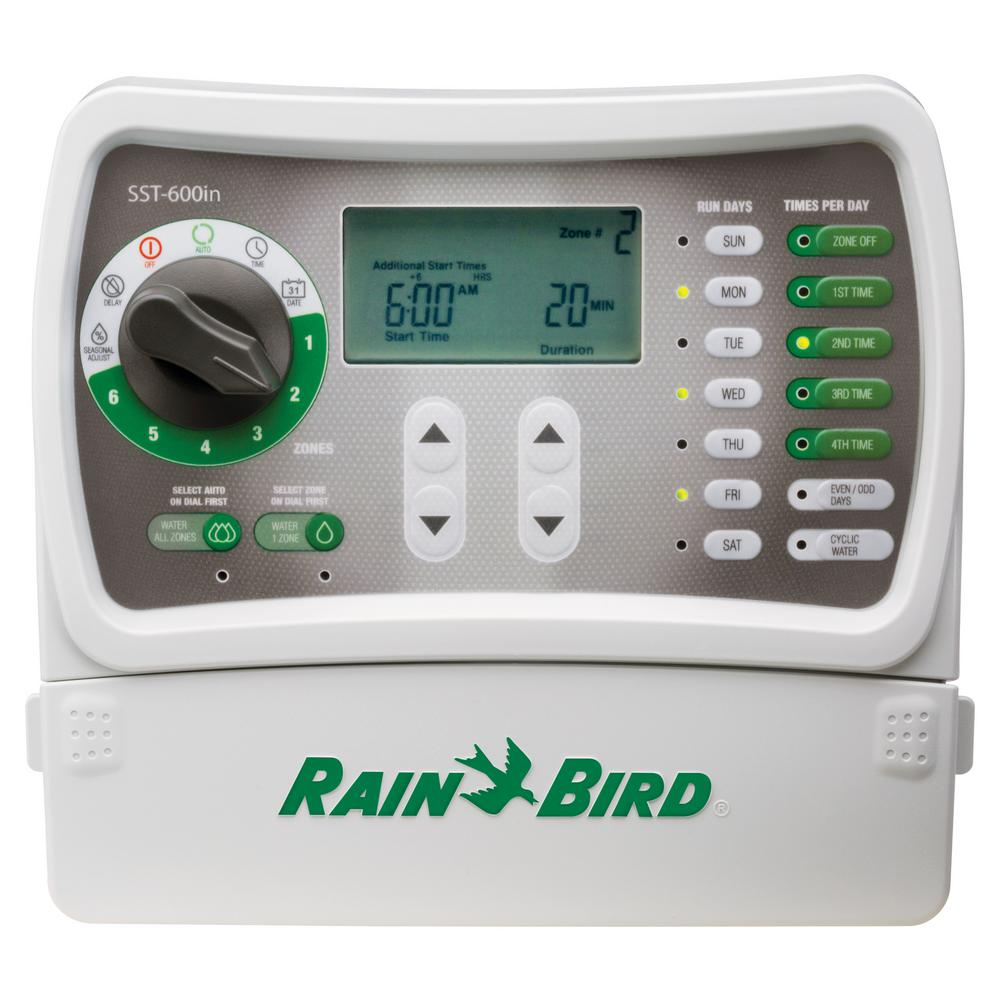 Rain Bird 6 Station Indoor Simple To Set Irrigation Timer Sst600in Zone Golf Cart Wiring Diagram