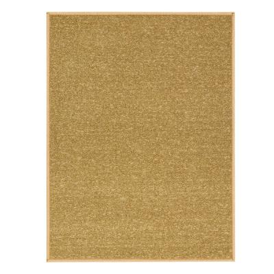 Ottohome Collection Solid Design Beige 2 ft. 3 in. x 3 ft. Area Rug