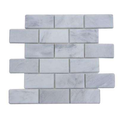 Oriental 12 in. x 12 in. x 8 mm Marble Floor and Wall Tile