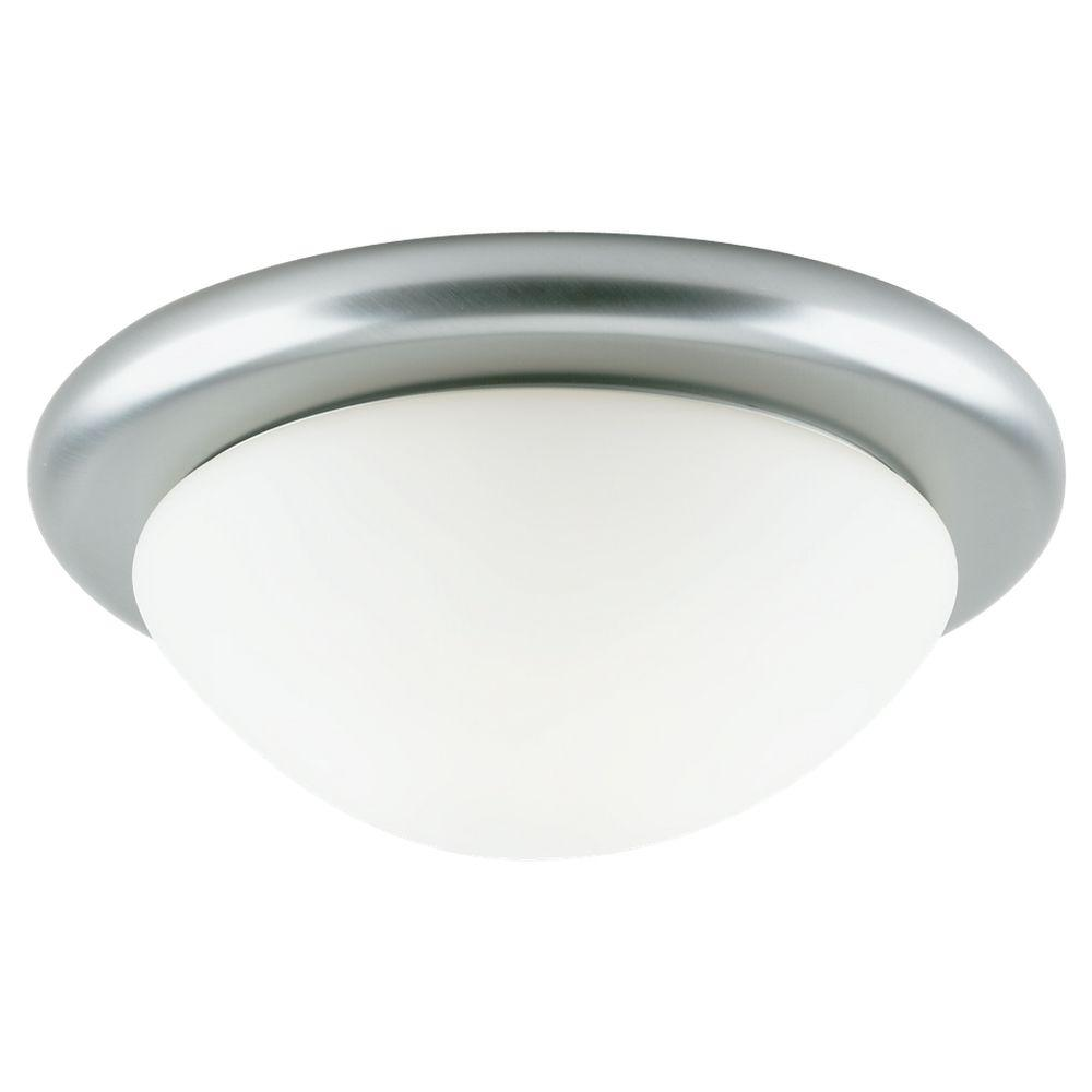 Sea Gull Lighting 1-Light Brushed Nickel Flush Mount Fixture -DISCONTINUED