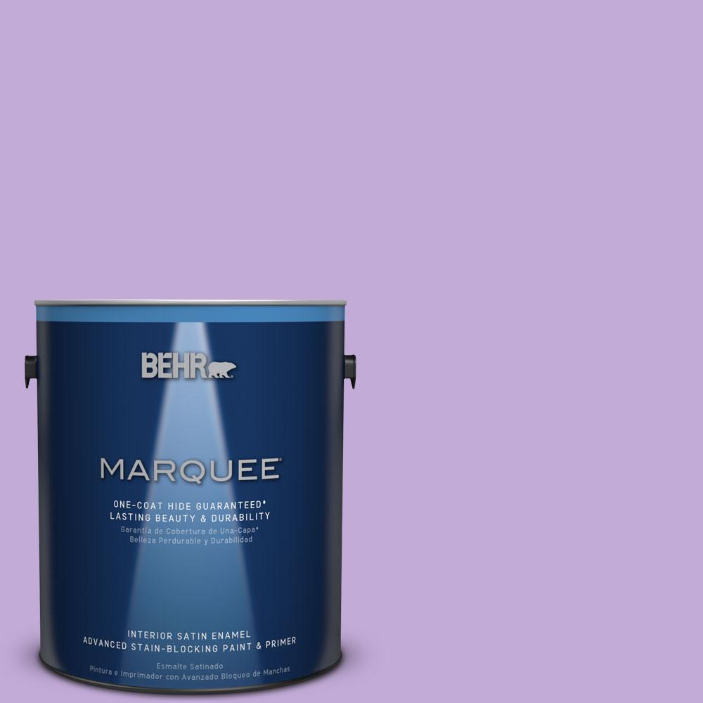 1 gal. #MQ4-59 Purple Gladiola One-Coat Hide Satin Enamel Interior Paint