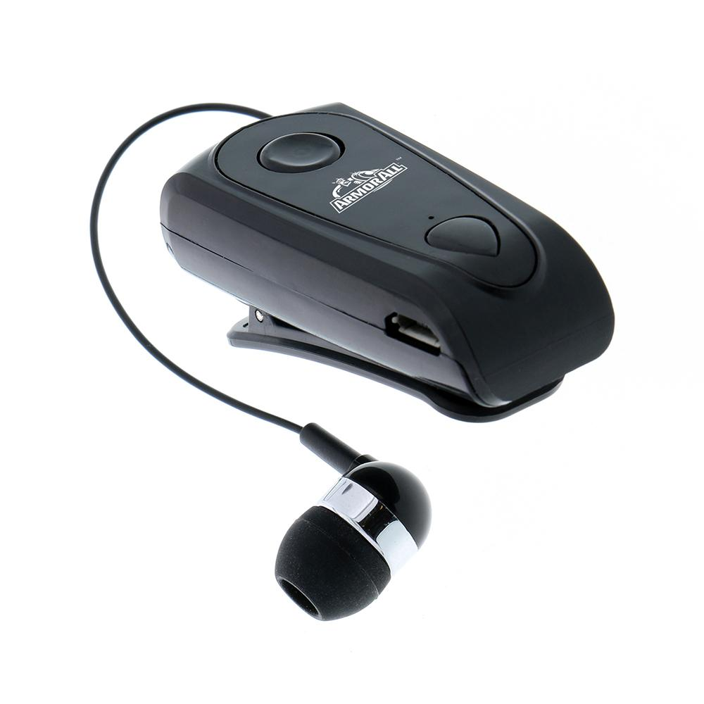 Armor All Retractable Clip On Bluetooth Headset Ahf9 1007 Blk The Home Depot