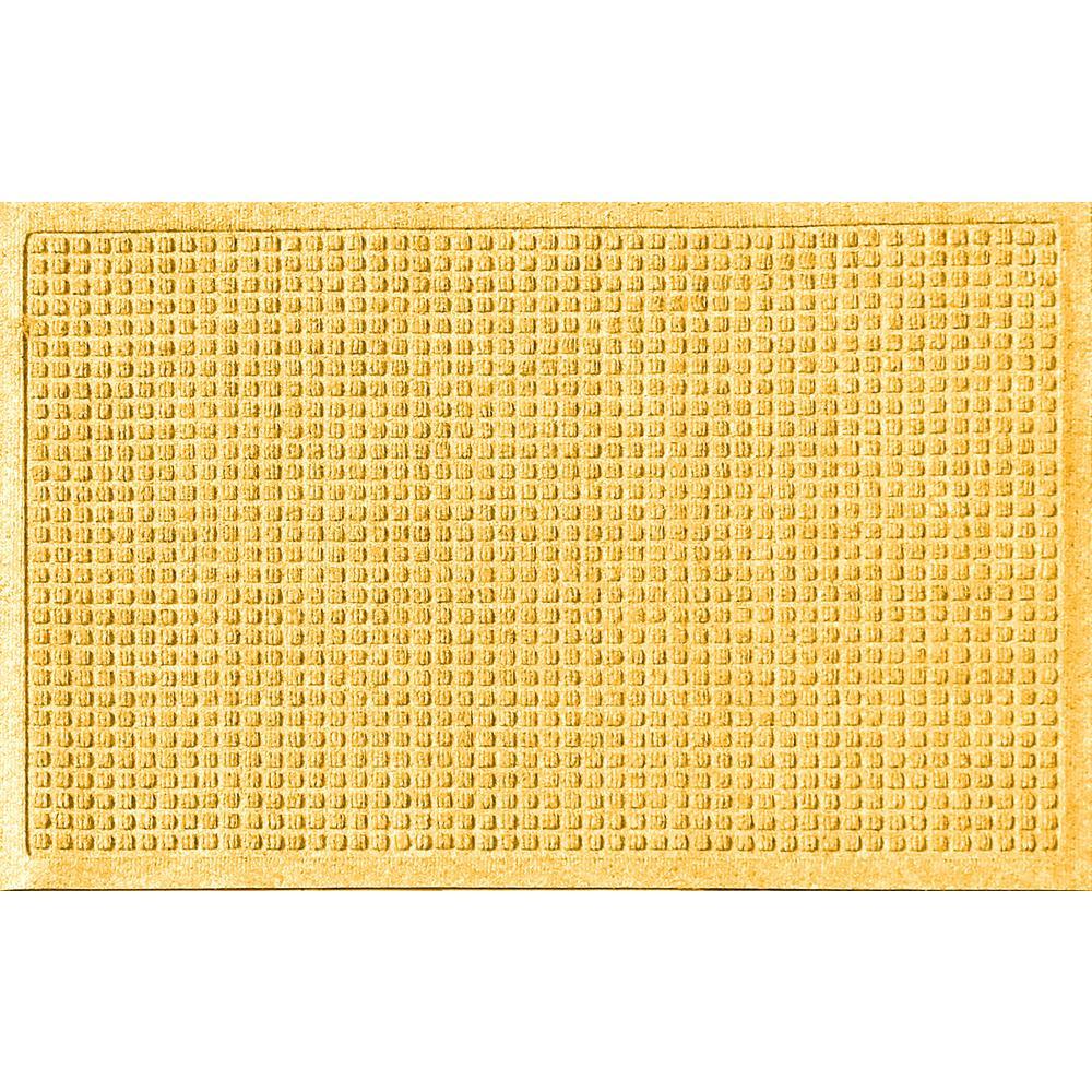 Aqua Shield Yellow 24 in. x 36 in. Squares Polypropylene Door Mat
