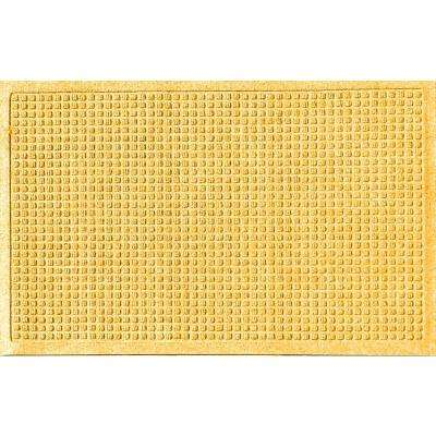 Yellow 24 in. x 36 in. Squares Polypropylene Door Mat