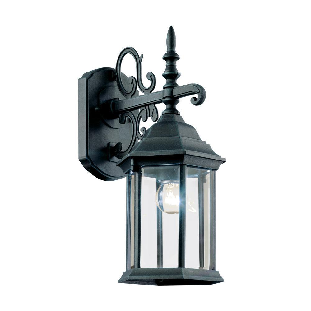 Bel Air Lighting Josephine 1-Light Swedish Iron Outdoor Wall Lantern Sconce
