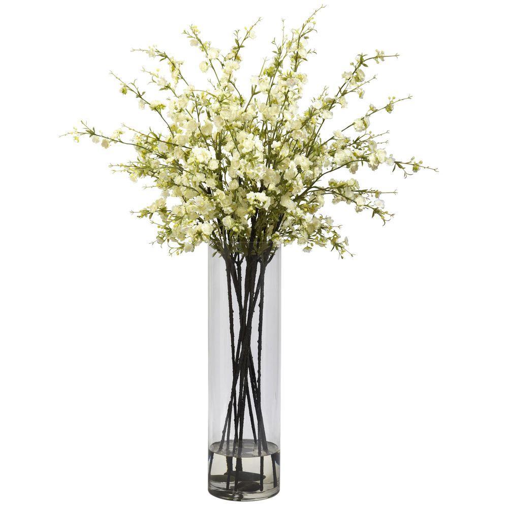 Giant Cherry Blossom Arrangement in White