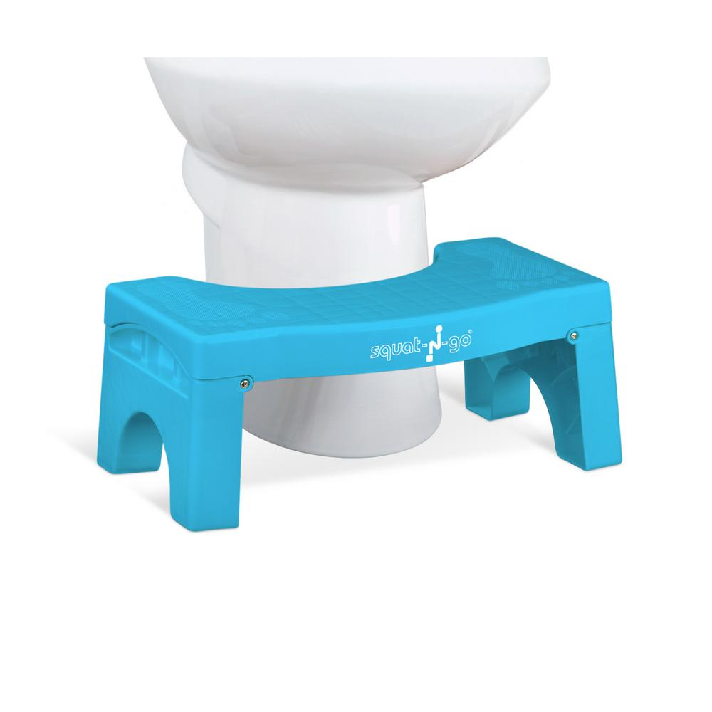 7 in. Foldable Squatting Toilet Stool in Sky Blue
