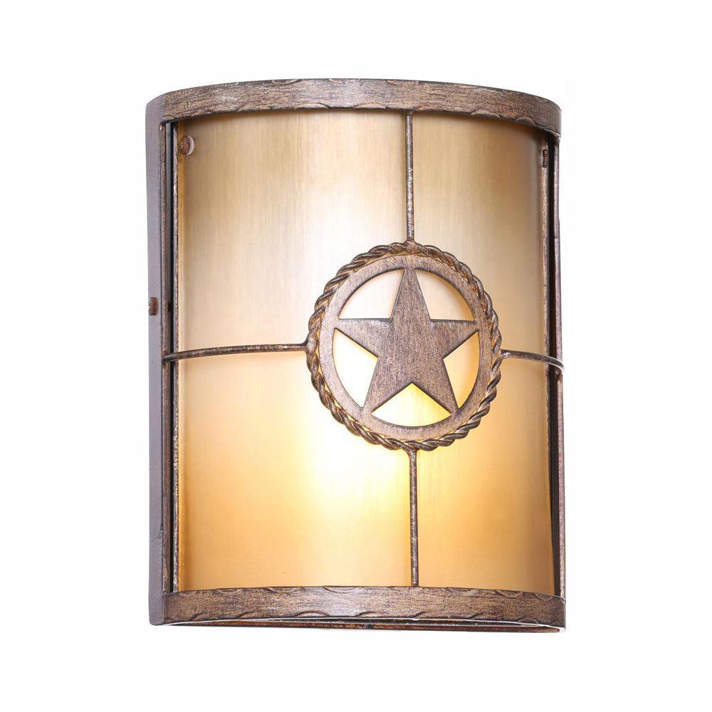 Lone Star 1-Light Desert Sands Outdoor Wall Lantern Sconce