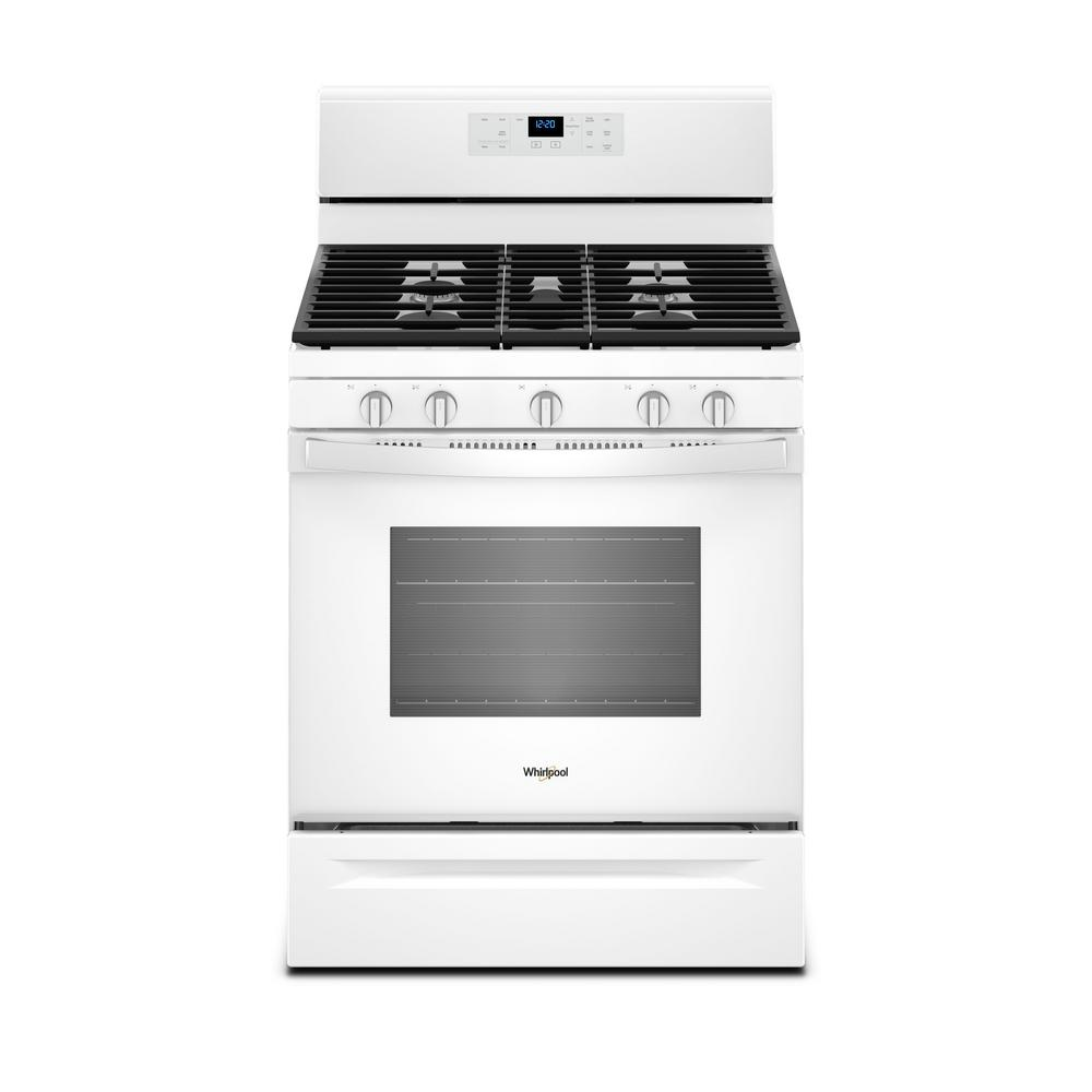 whirlpool gas range whirlpool 30 in 5 0 cu ft gas range with self cleaning 29073