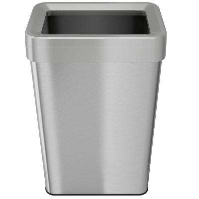 21 Gal. Rectangular Open-Top Stainless Steel Trash Can