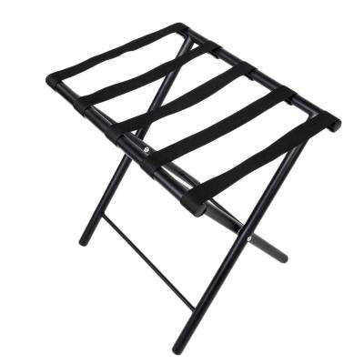 20 in. H x 16 in. W x 20 in. D Black Portable Iron Steel Stoving Varnish Luggage Shelf