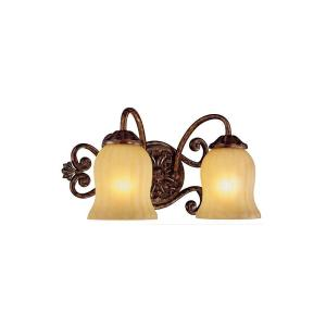 Freemont Collection 2 Light Antique Bronze Surface Mount Wall Sconce Hampton Bay