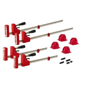 BESSEY H-Style Pipe Clamp Fixture Set for 3/4 in  Black Pipe-BPC-H34