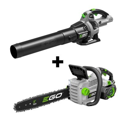 56V Lithium-Ion Cordless Electric 18 in. Chainsaw & 530 CFM Blower Combo Kit (2-Tools) 5.0 Ah Battery and Charger
