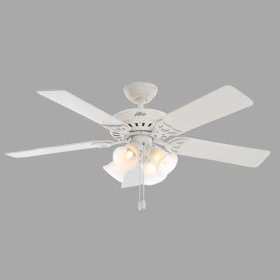 Studio Series 52 in. Indoor White Ceiling Fan with Light