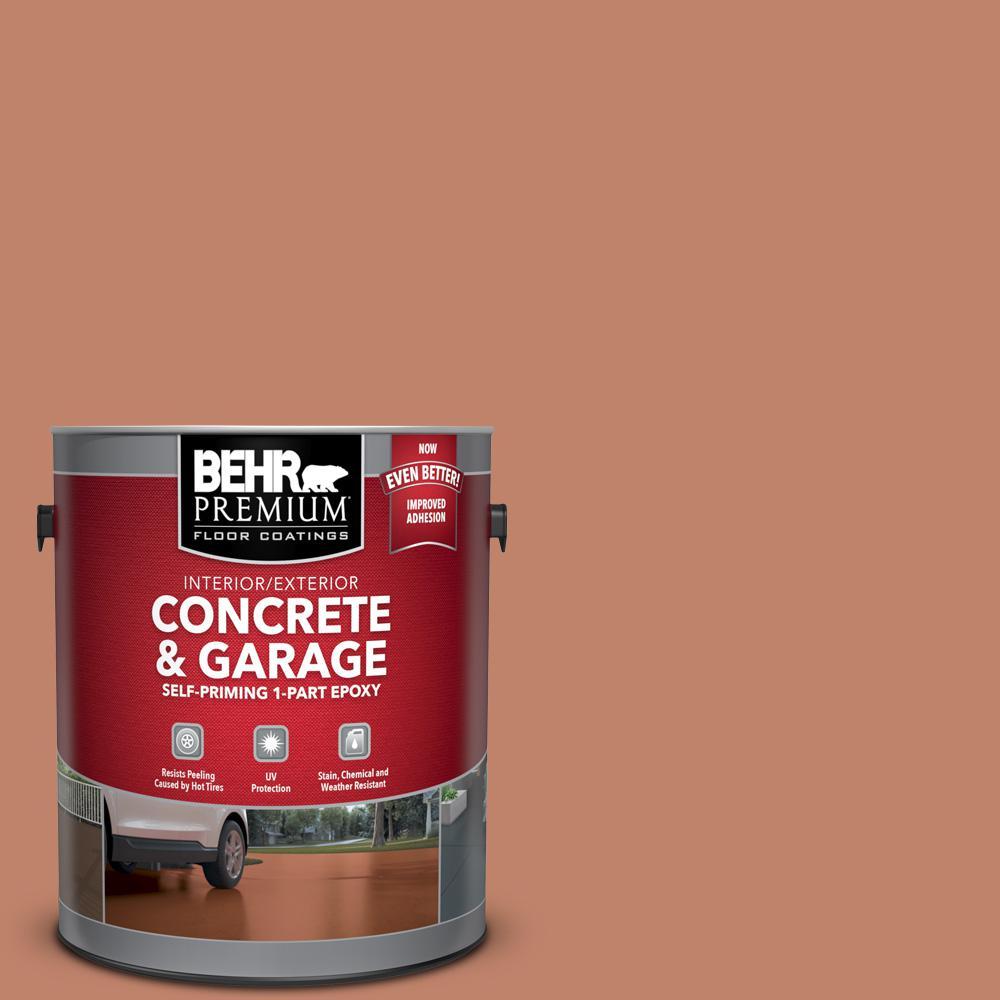 BEHR Premium 1 gal. #PFC-13 Sahara Sand Self-Priming 1-Part Epoxy Satin Interior/Exterior Concrete and Garage Floor Paint