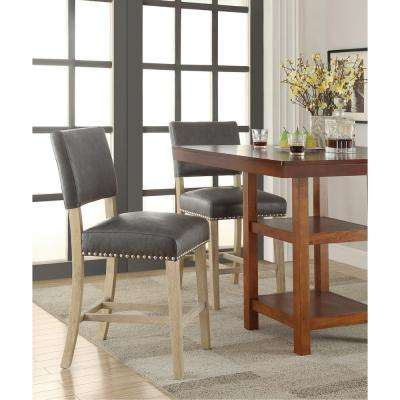 Carson 41 in. Counter Stool in Pewter