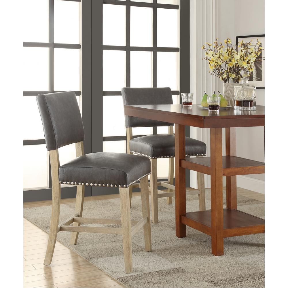 OSPHomeFurnishings OSP Home Furnishings Carson 41 in. Counter Stool in Pewter, Elite Pewter