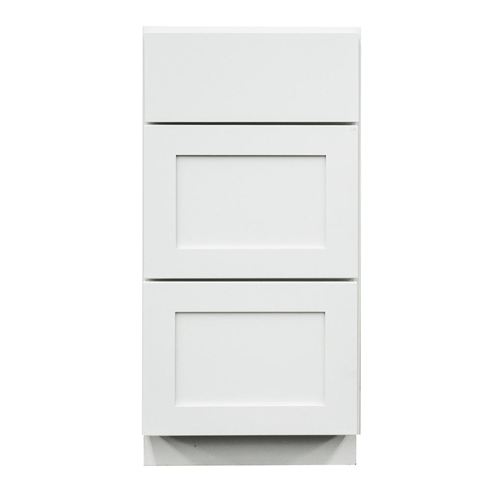 Frosted Shaker II Ready to Assemble 18x33x21 in. Base Cabinet with