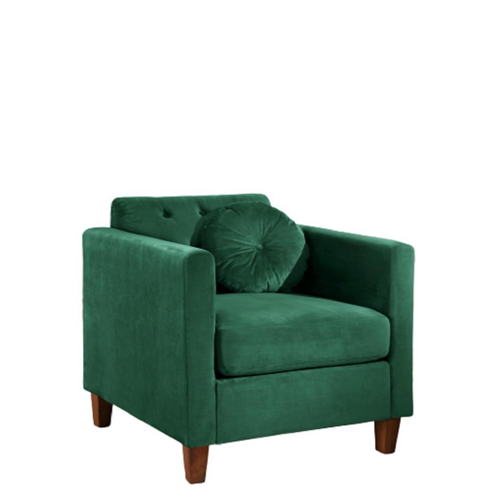 Lory velvet Kitts Classic Green Chesterfield Chair