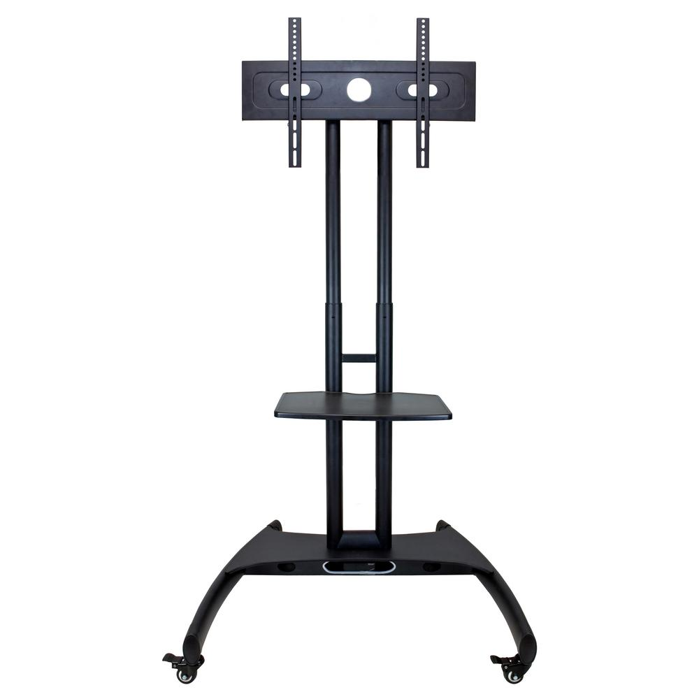 Luxor Black Adjustable Height LCD TV Stand Plus Mount