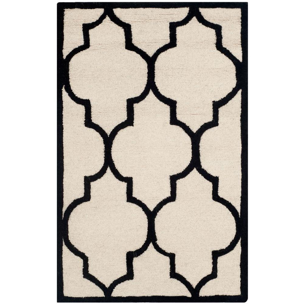 Safavieh Cambridge Ivory/Black 2 ft. 6 in. x 4 ft. Area Rug