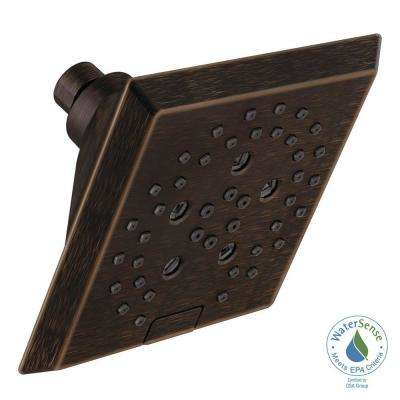 Pivotal 5-Spray H2OKinetic 5.81 in. Fixed Shower Head in Venetian Bronze