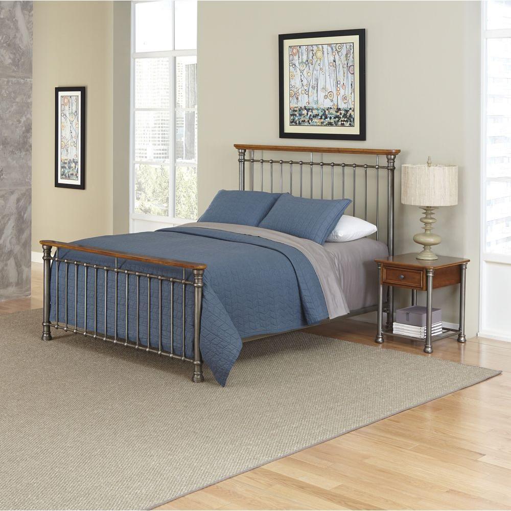 Home Styles Orleans 2-Piece Caramel Queen Bedroom Set