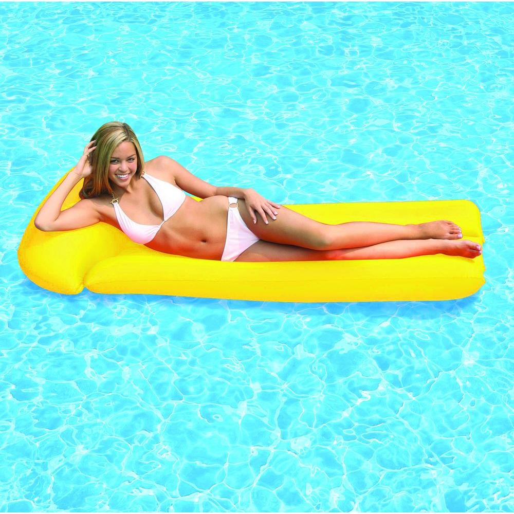 Yellow Neon Frost Swimming Pool Float Mattress