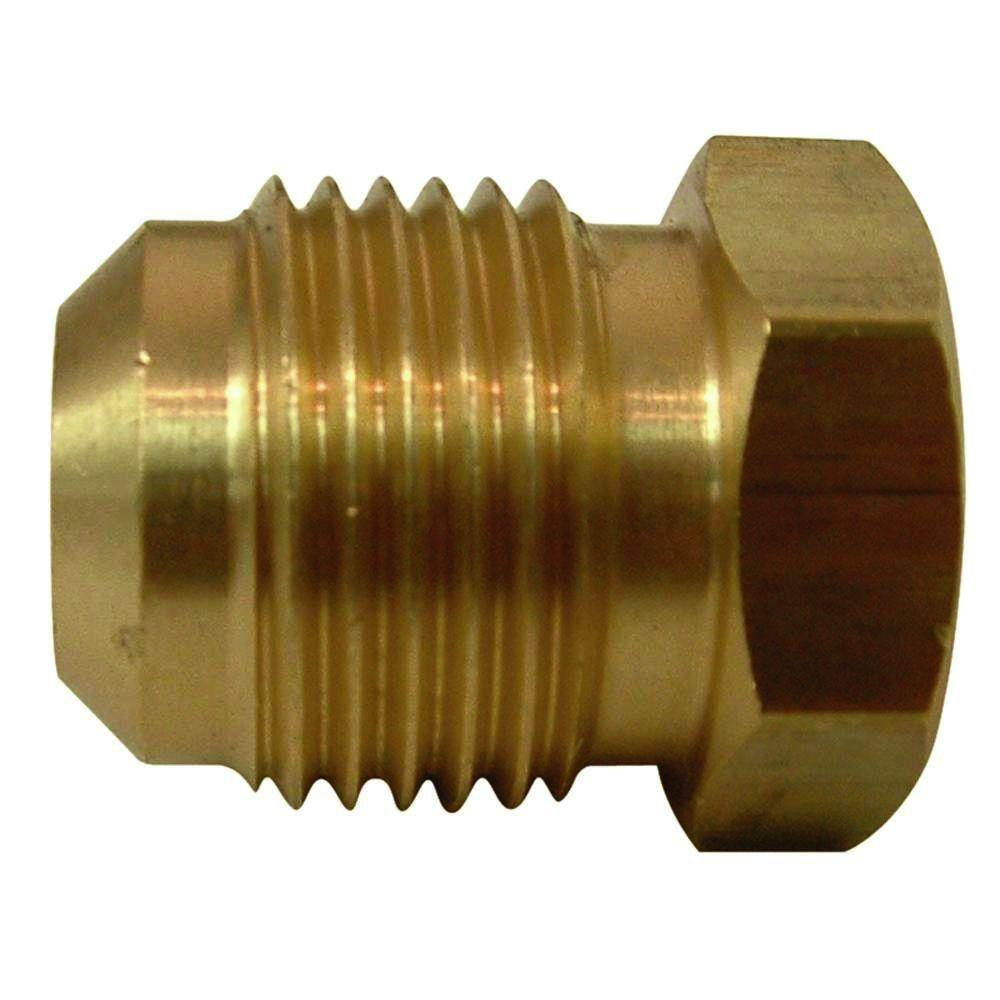 Lead-Free Brass Flare Plug 3/8 in.