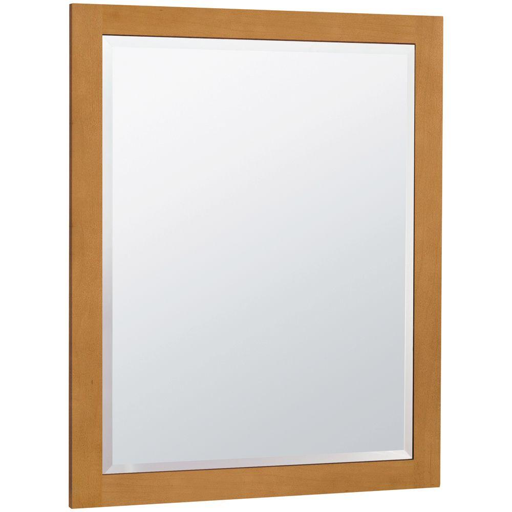 MasterBath 32 in. L x 26 in. W Wall Mirror in Cinnamon