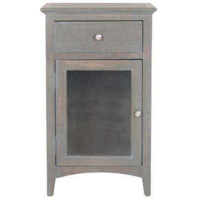 Ziva French Grey Storage End Table