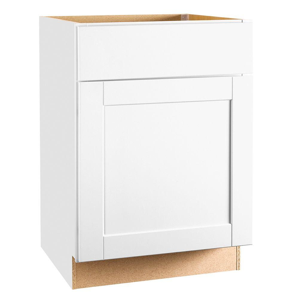 Shaker Assembled 24x34.5x24 in. Base Kitchen Cabinet with Ball-Bearing Drawer