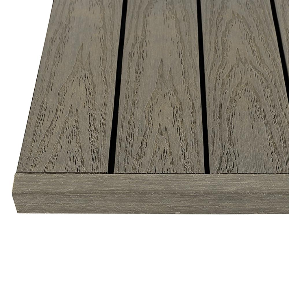 1/6 ft. x 1 ft. Egyptian Stone Gray Quick Deck Composite