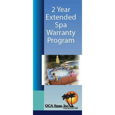 Extended 2 Year Warranty for QCA Spas