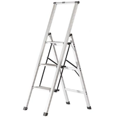 3-Step Slimline Aluminum Light Step Stool with 225 lb. Load Capacity Type 2 Duty Rating