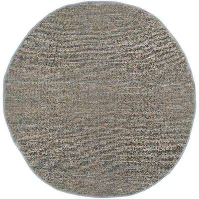 Rio Gray Blue 8 ft. x 8 ft. Round Area Rug