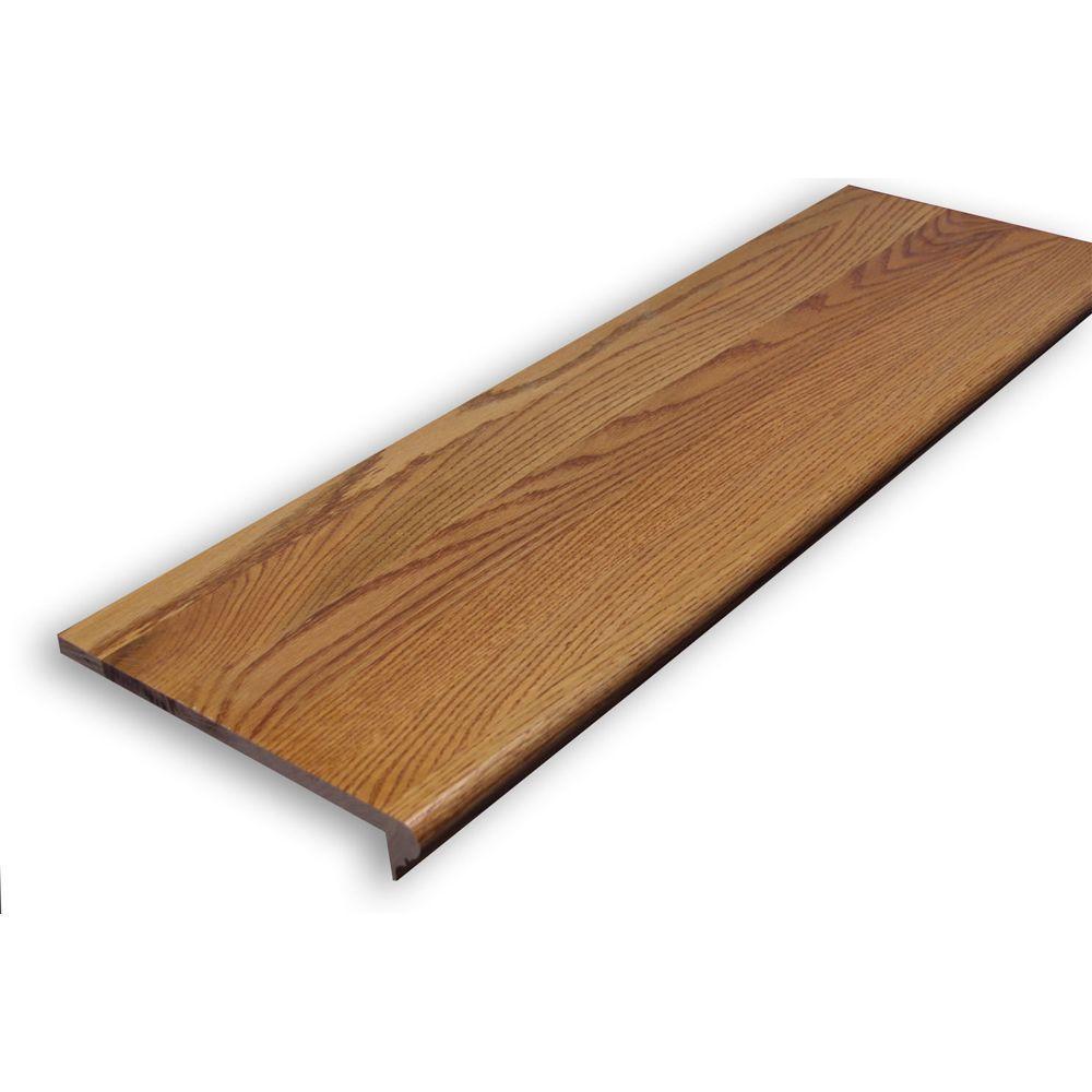 Stairtek 0.625 in. x 11.5 in. x 48 in. Prefinished Gunstock Red Oak Retread