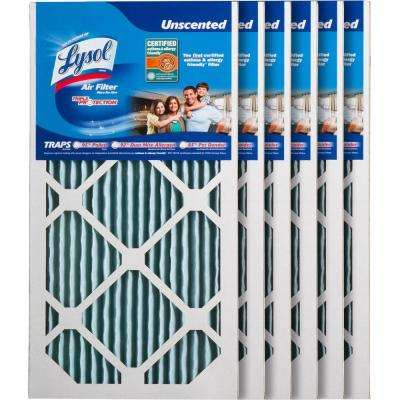 10 in. x 20 in. x 1 in. Certified Asthma and Allergy Triple Protection Air Filter (6-Pack)