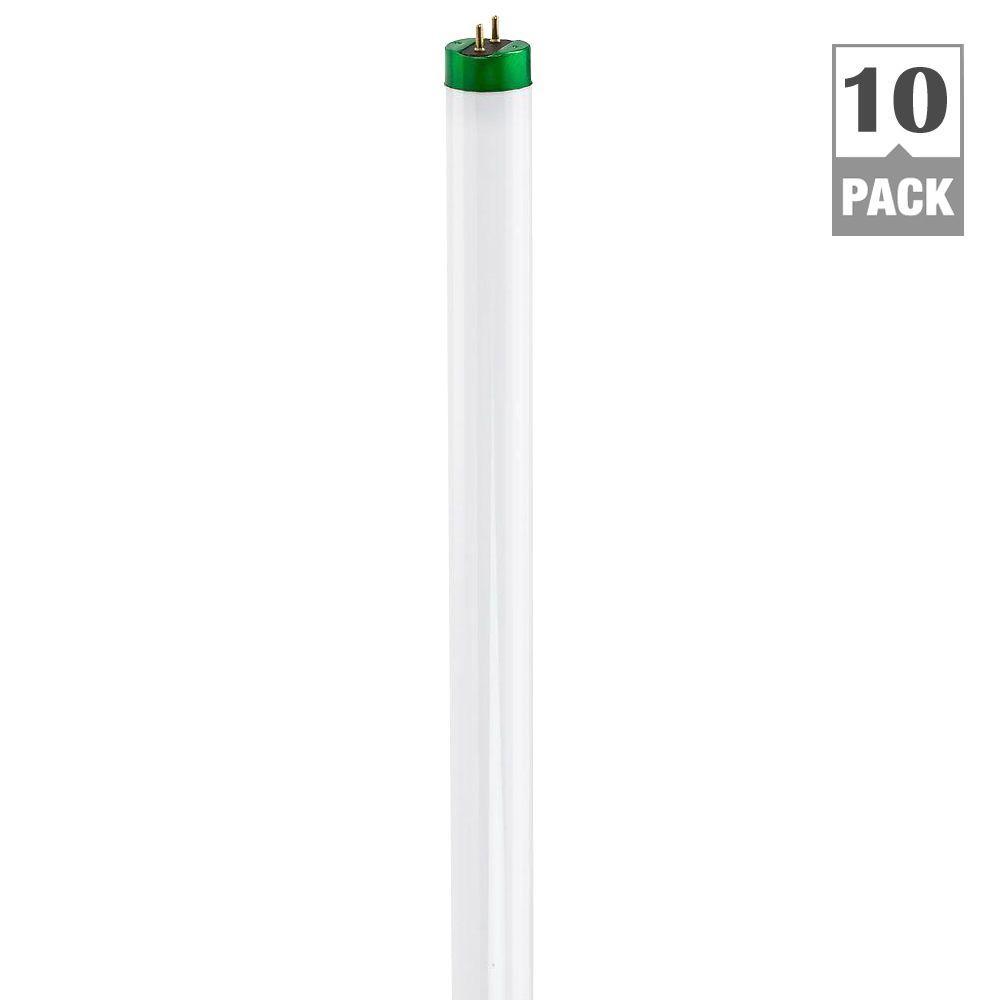Philips 4 ft. T8 32-Watt Cool White Linear Fluorescent Light Bulb (10-Pack)