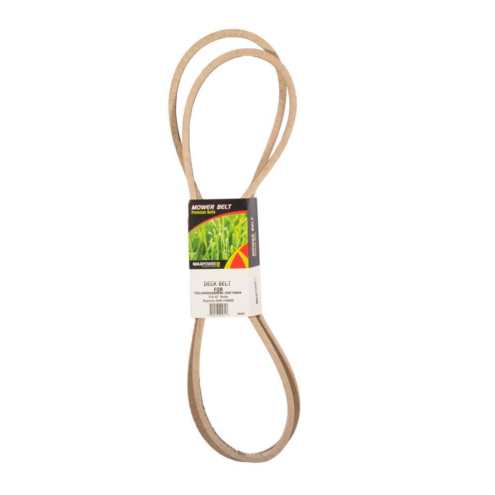 Deck Belt for Craftsman, Husqvarna, Poulan Mowers Replaces OEM #'s 5324296-36