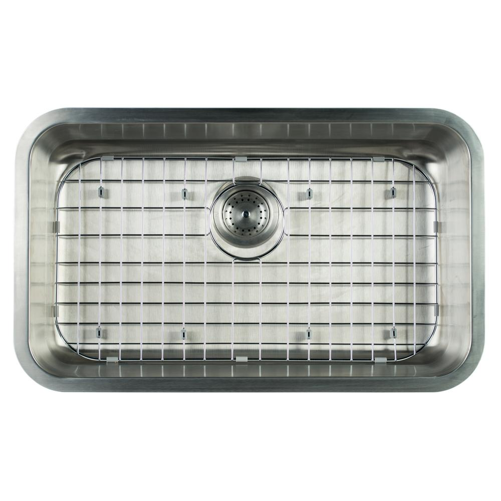 Superieur Glacier Bay Undermount Stainless Steel 30 In. Single Bowl Kitchen Sink With  Grid And Strainer