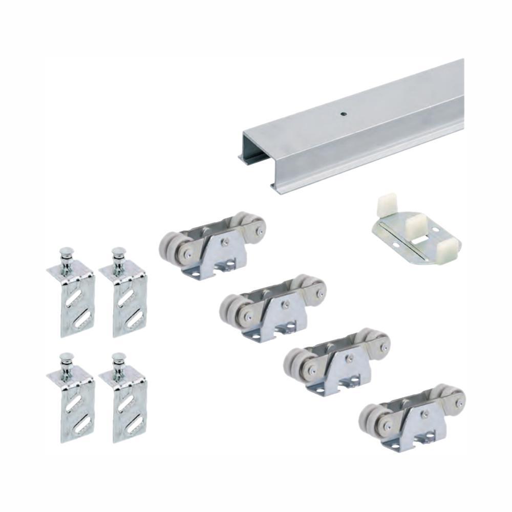 72 in. TopLine 72-138 Double Door Hardware and Track