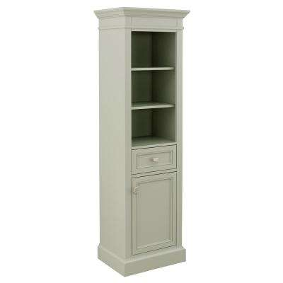 Braylee 20 in. W x 68 in. H Linen Cabinet in Sage Green