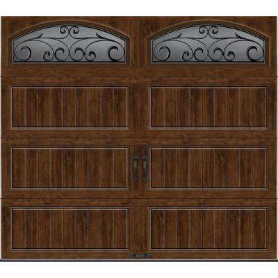 Gallery Collection 8 ft. x7 ft. 18.4 R-Value Intellicore Insulated Ultra-Grain Walnut Garage Door with Decorative Window