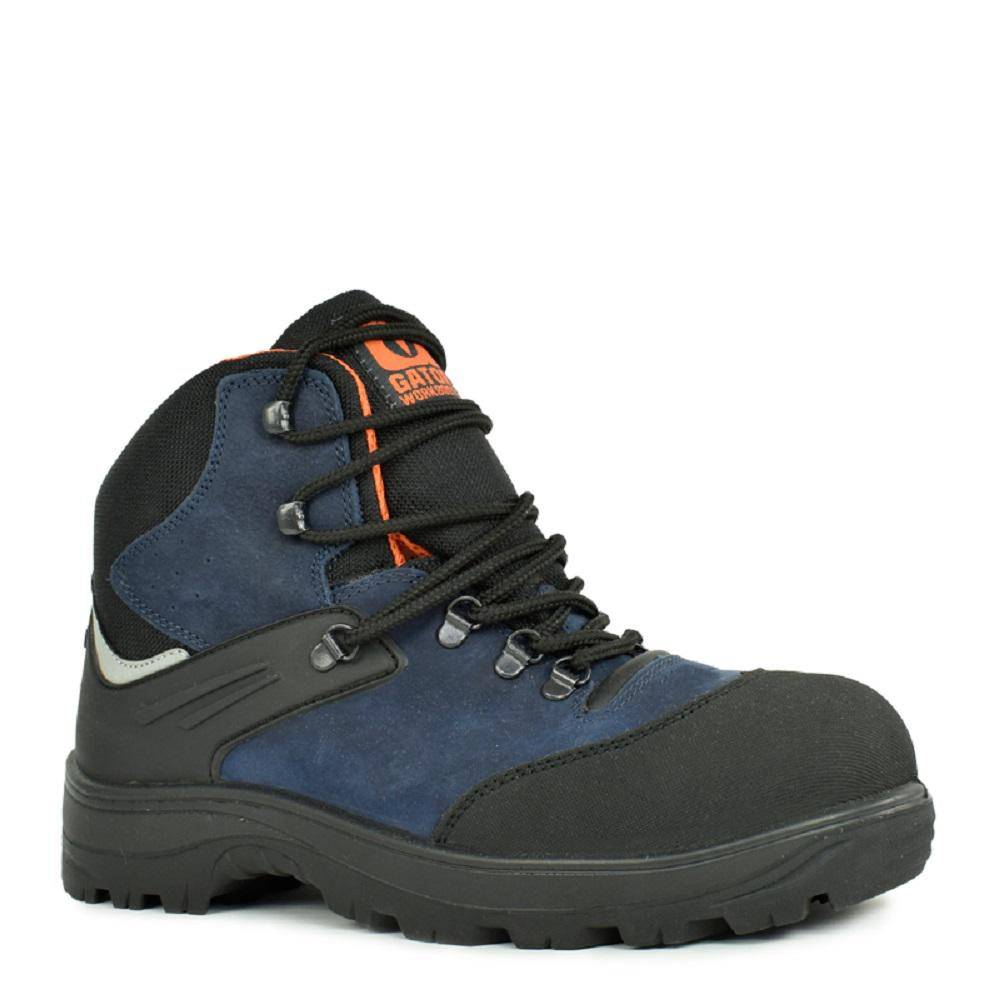 c2fca34ac1e Gator Boots Gator Cadet Men's Size 8.5 Navy Blue and Black Natural Leather  Work Boot