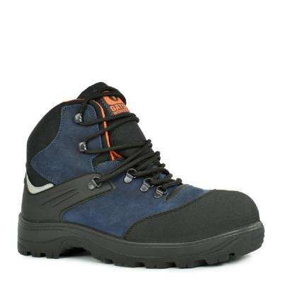 Gator Cadet Men's Size 8.5 Navy Blue and Black Natural Leather Work Boot
