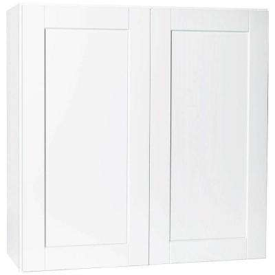 Shaker Assembled 36x36x12 in. Wall Kitchen Cabinet in Satin White