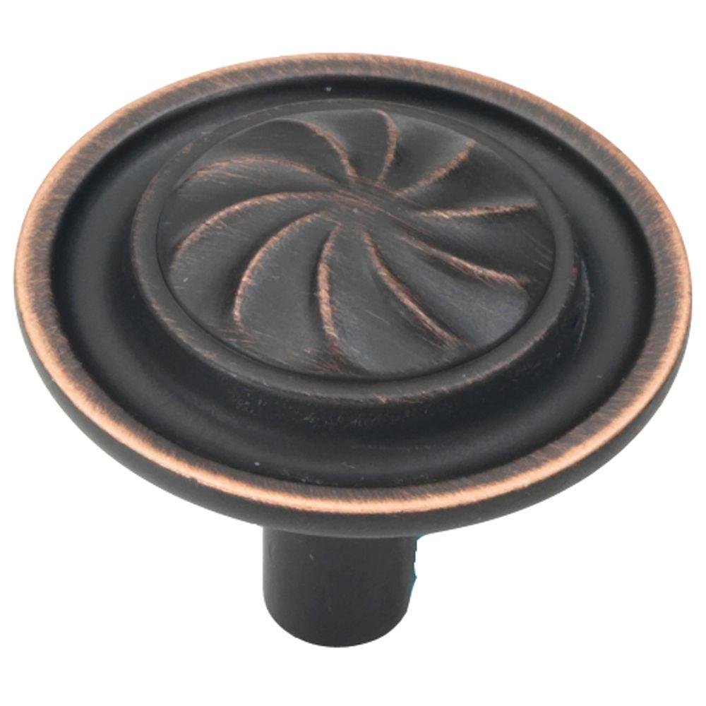 Roma 1-1/4 in. Vintage Bronze Cabinet Knob
