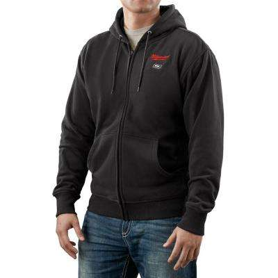 X-Large M12 12-Volt Lithium-Ion Cordless Black Heated Hoodie Kit (Battery and Charger Included)